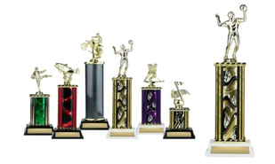 Rectangular or Oval Column Trophy: 12-1/2""