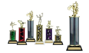 Rectangular or Oval Column Trophy: 13-1/2""