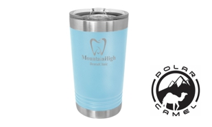 Polar Camel Pint Tumbler - Light Blue: 16 oz.