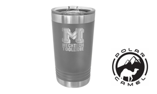 Polar Camel Pint Tumbler - Dark Grey: 16 oz.