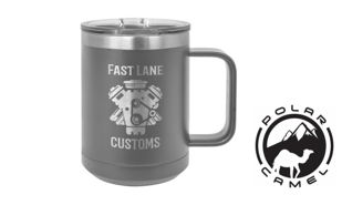 Polar Camel Mug - Dark Grey: 15 oz.