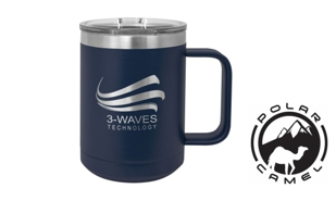 Polar Camel Mug - Navy Blue: 15 oz.
