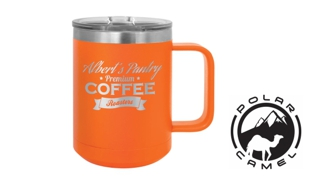 Polar Camel Mug - Orange: 15 oz.