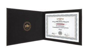 "Leatherette Certificate Holder - Black/Gold: 9"" x 12"""