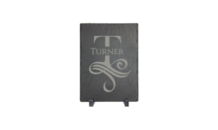"Slate Décor/Plaque with Stand: 5"" x 7"""