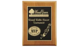 "Red Alder Regular Edge Plaque: 7"" x 9"""