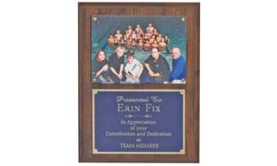 "Cherrywood Laminate Photo Plaque: 9"" x 12"""