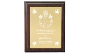 "7"" x 9"" Cherrywood Laminate Plaque"