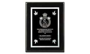 "7"" x 9"" Black Piano Finish Plaque"