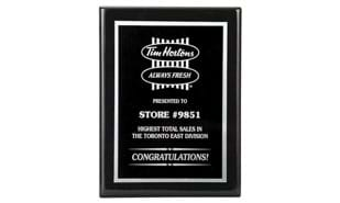 "9"" x 12"" Black Piano Finish Plaque"