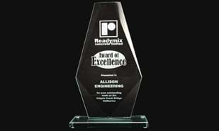 "10-5/8"" Coulton Series Jade Glass Award"