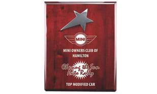 "8"" x 10"" Rosewood Piano Finish Star Award"