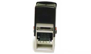 "1 5/8"" x 1 5/8"" Black Self Inking Dater Stamp"