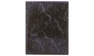 "Black Marble Laminate Plaque: 9"" x 12"""