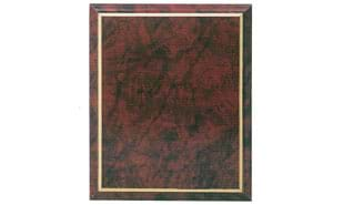 "6"" x 8"" Red Marble Laminate Plaque with Gold Trim"