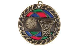 "2 1/2"" Stained Glass Basketball Medallion"