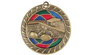 "2 1/2"" Stained Glass Swimming Medallion"