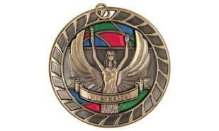 "2 1/2"" Stained Glass Victory Sculptured Medallion"