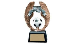 Winged Soccer Sculpture: 5-1/2""