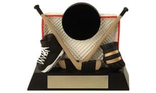 "3-1/2"" Hockey Net Sculpture"
