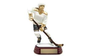 Female Hockey Action Sculpture: 8""
