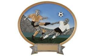 SALE! Male Soccer Oval Sculpture: 8""