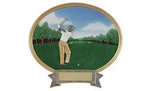 Female Golf Oval Sculpture - Large
