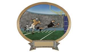 SALE! Football Oval Sculpture: 8""