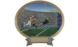 SALE! Football Oval Sculpture: 6""
