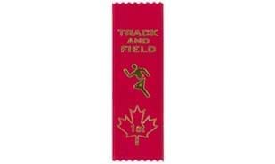 Stock Track & Field First Place Ribbon