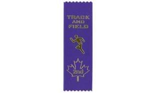 Stock Track & Field Second Place Ribbon