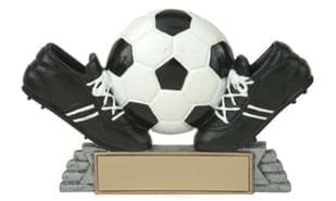 "4"" Twin Cleat Soccer Ball Sculpture"