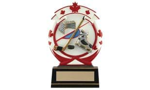 "6-1/2"" Maple Leaf Hockey Sculpture"