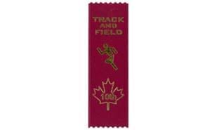 Stock Track & Field Tenth Place Ribbon