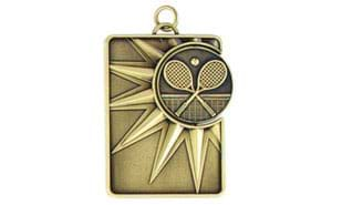 Tennis Spinner Dog Tag